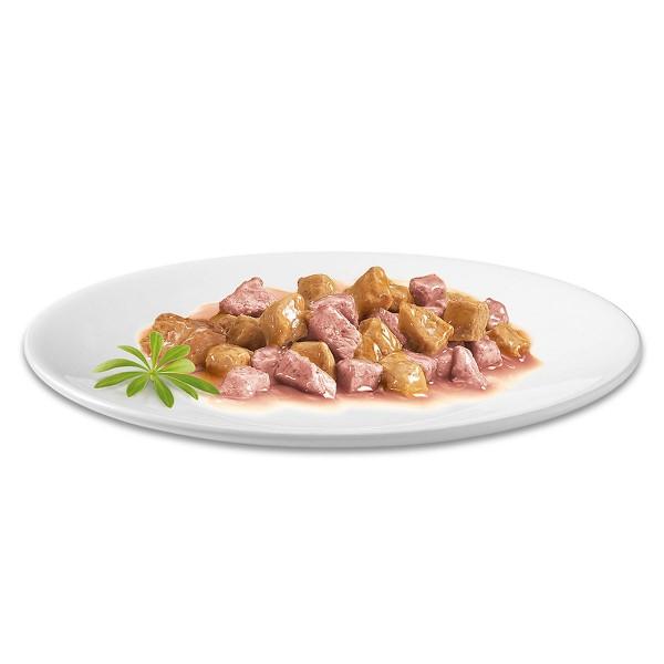 Gourmet Gold Zarte Häppchen Lachs & Huhn
