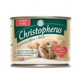 Christopherus Fleischmahlzeiten Katzenfutter Lachs und Forelle 6x200g