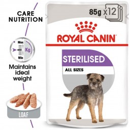 ROYAL CANIN STERILISED Nassfutter für kastrierte Hunde 12x85g