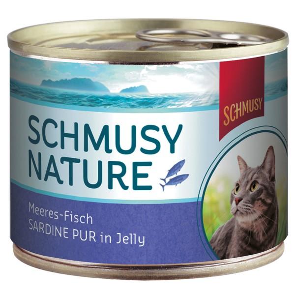 Schmusy Katzenfutter Nature Meeres-Fisch Sardin...
