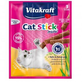 Vitakraft Cat Stick mini Huhn,Inulin&Katzengras