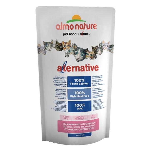 Haustier: Almo Nature Alternative dry Cat Lachs und Reis 750g