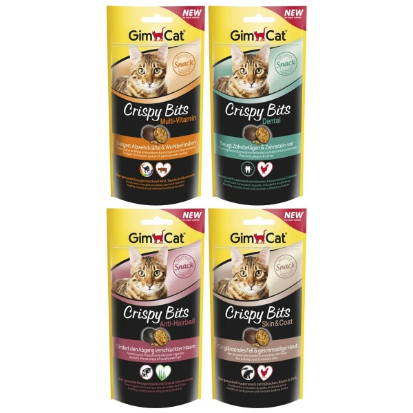 GimCat Crispy Bits Mixpaket 4x40g