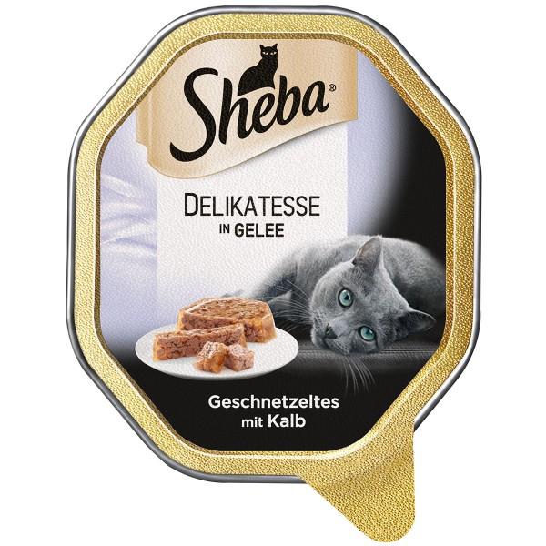Sheba Delikatesse in Gelee Geschnetzeltes mit Kalb