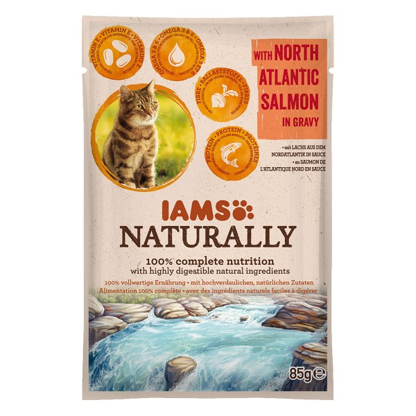 IAMS Naturally Katze Nassfutter Adult Lachs in ...