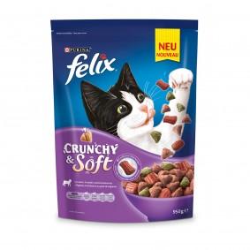 FELIX Katzentrockenfutter Crunchy & Soft mit Lamm, Truthahn und Gemüsenote