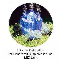 H2show Kristall Dekoration Set mit LED und Bubble-Maker