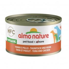 Almo Nature HFC Natural Dog Thunfisch und Huhn 95g 5+1 gratis