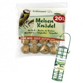 Erdtmann's 20lojových koulí bez síťky + 1držák Knödelboy