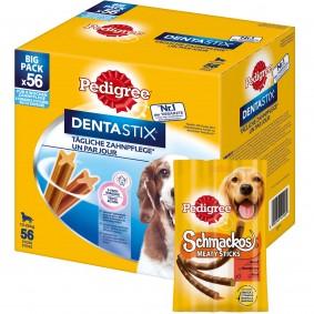 Pedigree Dentastix für mittelgroße Hunde 56 Stück + 10 Pedigree Schmackos GRATIS