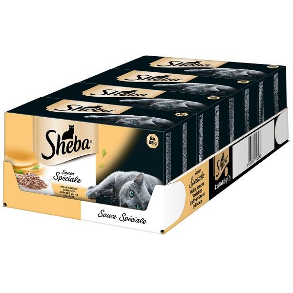 Sheba Sauce Spéciale Helle Saucen-Variation Mega Pack 32x85g