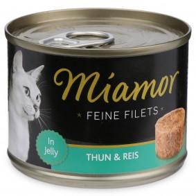 Miamor Katzen-Nassfutter Feine Filets in Jelly Thunfisch und Reis