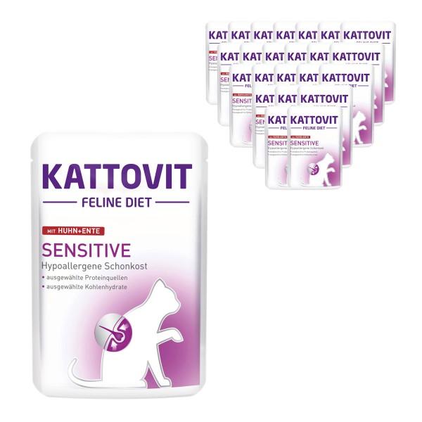 KATTOVIT Feline Diet Sensitive Huhn und Ente 24x85g
