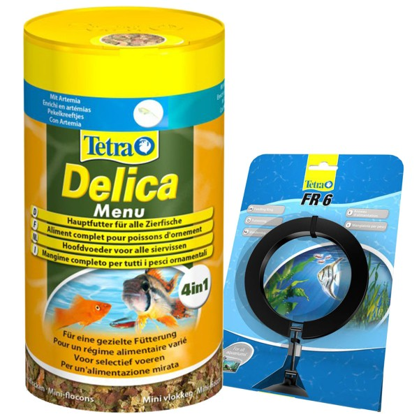 TetraDelica Menu 4in1 100 ml + Tetra FR 6 Futtering