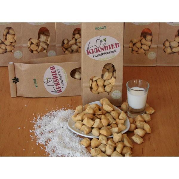 keksdieb Hundekeks Buttermilch Kokos Tropfen 100g