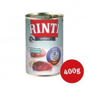 Rinti Hunde-Nassfutter Sensible Ross, Entenherzen und Reis