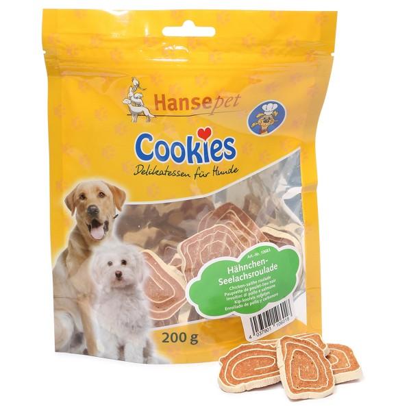 Hansepet Hundesnack Cookies Delikatess-Hähnchen-Seelachsroulade