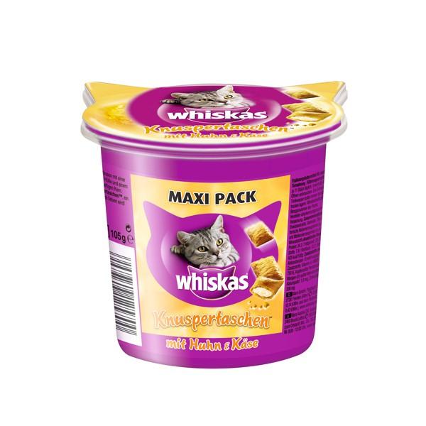 Whiskas Maxi Pack Knuspertaschen mit Huhn & Käse