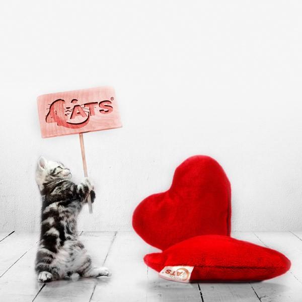 4 Cats Schmuseherz mit Baldrianwurzel