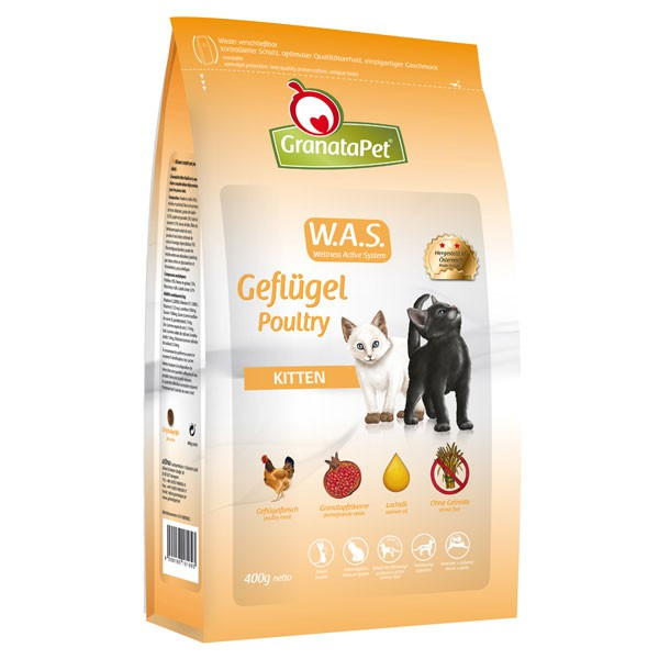 Haustier Angebot: GranataPet Katzenfutter Geflügel Kitten – 400g