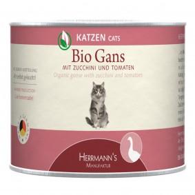 Herrmanns Bio Katzenfutter Gans mit Zucchini und Tomaten