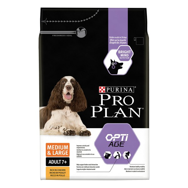 Pro Plan DOG Medium & Large Adult 7+ mit OPTIAGE Reich an Huhn