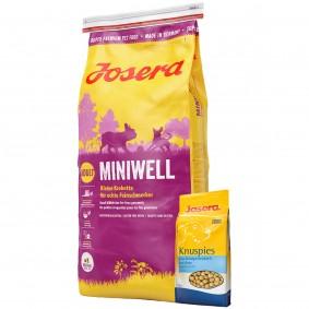 Josera Miniwell Adult 15kg + Josera Knuspies 1,5kg GRATIS