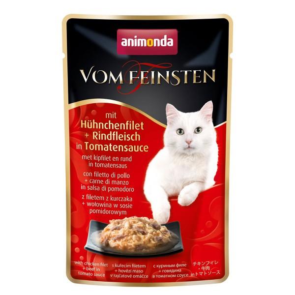 Animonda Vom Feinsten mit Hühnchenfilet + Rindfleisch in Tomatensauce 50g