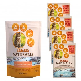 Klein Döbbern Angebote Procter & Gamble IAMS Naturally Probierpaket Lachs Reis 700g + 4x85g in Sauce