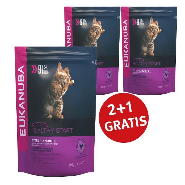 Eukanuba 2+1 Gratis Healthy Start Kitten Huhn 400g