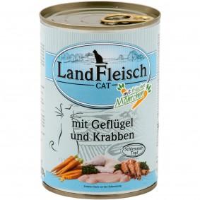 Kathlow Angebote Landfleisch Tiernahrung LFT GmbH Cat Katzen-Nassfutter Schlemmertopf Geflügel & Krabben - 12x400g