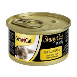 GimCat Katzenfutter ShinyCat in Jelly Thunfisch mit Käse