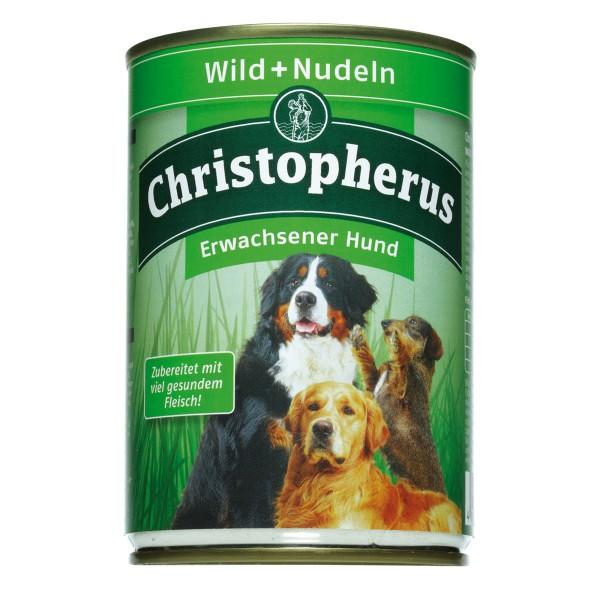 Christopherus Hundefutter: Wild & Nudeln - 6x400g