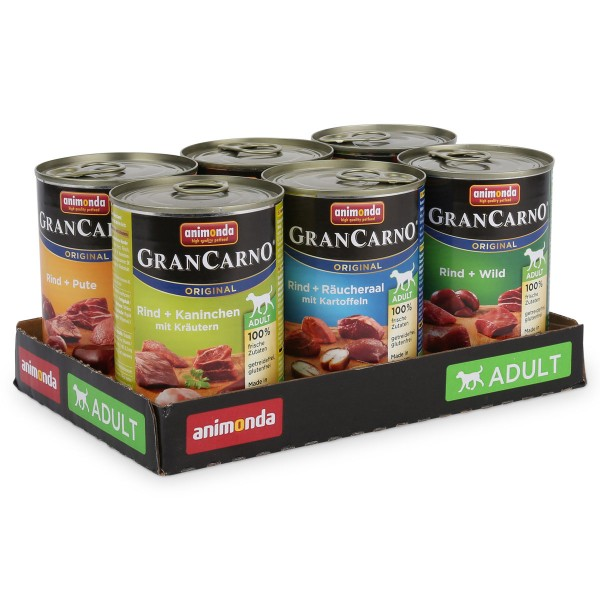 Animonda Hundefutter GranCarno Mixpaket 2 6x400g
