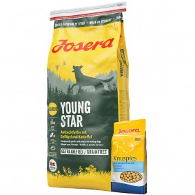 Josera YoungStar 15kg + Josera Knuspies 1,5kg GRATIS