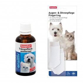 beaphar Sensitiv Tränenfleckentferner 50ml + Fingerling GRATIS