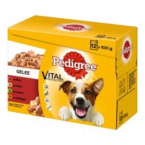 Pedigree Hundefutter 12er Multipack Gelee 12x100g