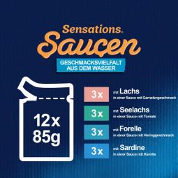 FELIX Sensations Saucen Geschmacksvielfalt aus dem Wasser 12x85g