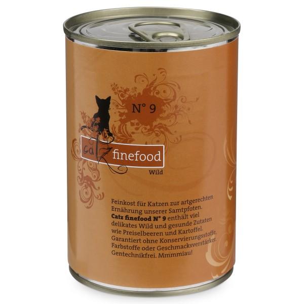 CATZ Finefood Katzen Nassfutter No. 9 Wild 400g