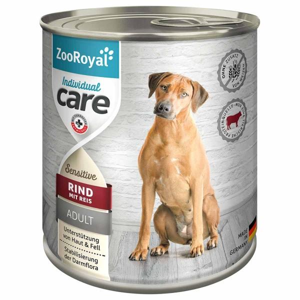 ZooRoyal Individual care - Adult Sensitive Rind mit Reis 12x800g