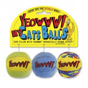 Yeowww! Katzenspielzeug My Cats Balls 3er Pack