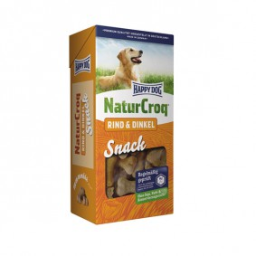 Happy Dog NaturCroq Snack Rind & Dinkel