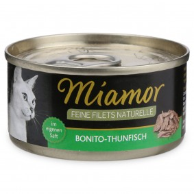 Miamor Feine Filets Naturelle Bonito-Thunfisch 80g Dose