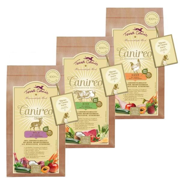 Terra Canis Canireo Mixpaket Huhn, Wild & Rind 3x1kg
