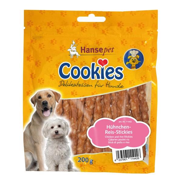 Hansepet Hundesnack Cookies Delikatess-Hühnchen-Reis-Stickies 200g