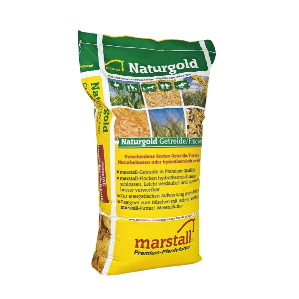 Marstall Naturgold Gerstenflocken Pferdefutter 20kg