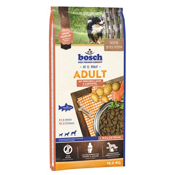Bosch Hundefutter Adult Lachs & Kartoffel - 15kg