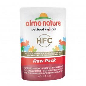 Almo Nature HFC Raw Hühnerfilet und Thunfischfilet