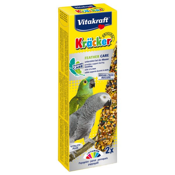 Vitakraft Papagei Kräcker Feather Care 2 Stück