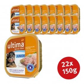 Ultima Dog Nassfutter Junior Huhn und Reis mit Milch